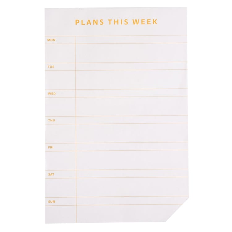 Bilde av Anteckningsblock Plans This Week - Anteckningsblock Plans This Week